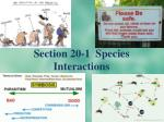 Section 20-1 Species Interactions