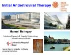 Initial Antiretroviral Therapy