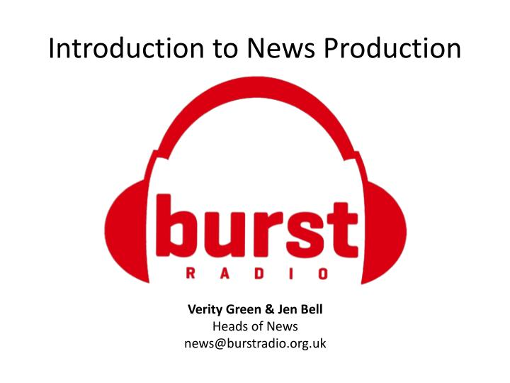 introduction to news production n.