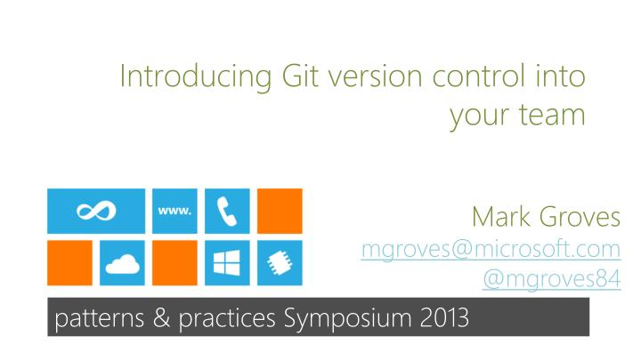 introducing git version control into your team n.