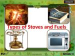 Types of Stoves and Fuels