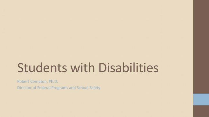students with disabilities n.