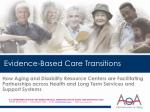 Evidence-Based Care Transitions