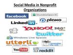 Social Media in Nonprofit  Organizations