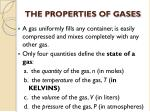 THE PROPERTIES OF GASES