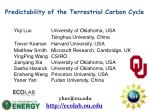 Predictability of the Terrestrial Carbon Cycle