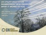 UK Utility Vegetation Management Benchmarking: What it means to you