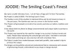 JOODIE: The Smiling Coast's Finest
