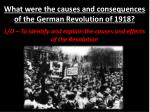 What were the causes and consequences of the German Revolution of 1918?