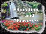 Education       and Character