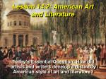 Lesson 14.2: American Art and Literature