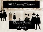 The History of Puritans