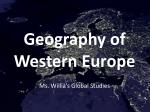 Geography of Western Europe