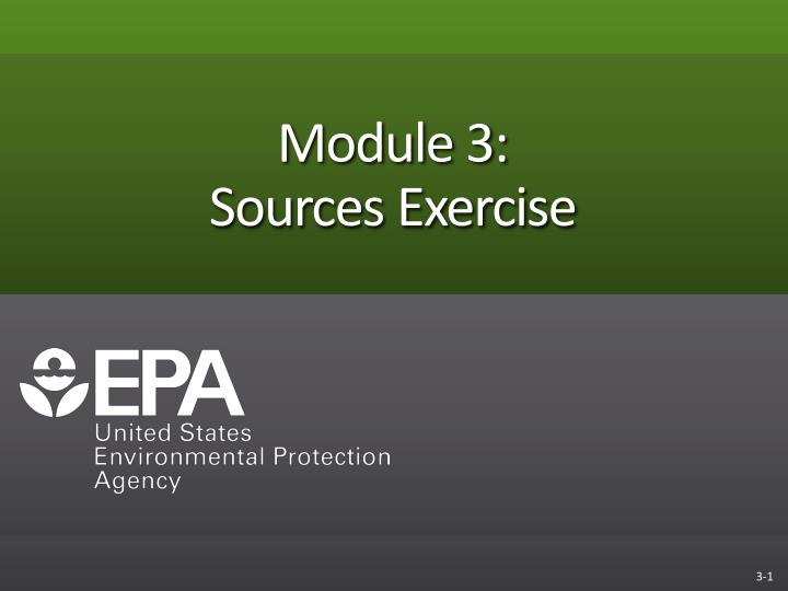 module 3 sources exercise n.