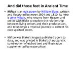 And did those feet in Ancient Time