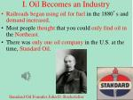 I. Oil Becomes an Industry