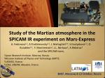 Study of the Martian atmosphere in the SPICAM IR experiment on Mars-Express