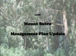 UCSF Mount Sutro Management Plan Update