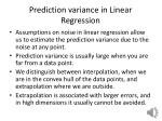 Prediction variance in Linear Regression