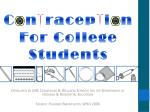 Contraception For College Students