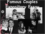 Famous Couples Expository Essay