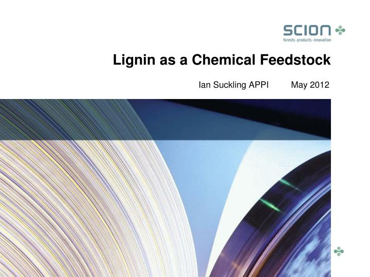 lignin as a chemical feedstock n.