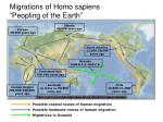 "Migrations of Homo sapiens ""Peopling of the Earth"""