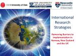International Research Strategies