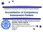 Competency Assessment and Certification Program (Regular)