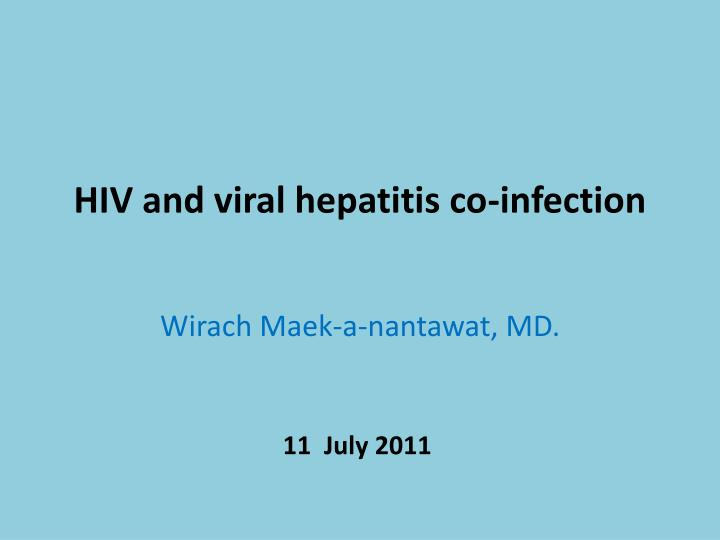 hiv and viral hepatitis co infection n.