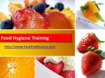 Healthy Distance 's Food Hygiene Training
