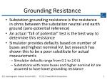Grounding Resistance