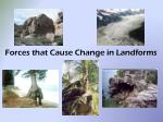 Forces that Cause Change in Landforms
