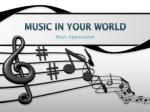 Music in Your World