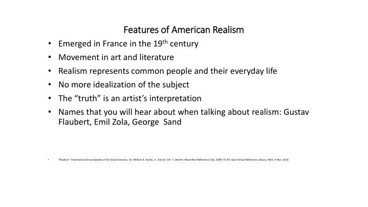 features of american realism n.