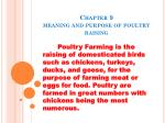Chapter 9 meaning and purpose of poultry raising