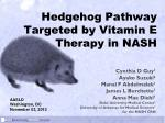 Hedgehog Pathway Targeted by Vitamin E Therapy in NASH