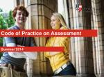 Code of Practice on Assessment