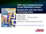 ISPD 2014 Detailed Routing-Driven Placement Contest: Benchmarks with Sub-45nm Technology Rules