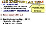 US Looks Abroad Imperialism and its factors The New Manifest Destiny