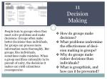 11  Decision Making