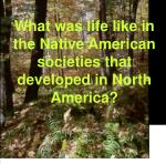What was life like in the Native American societies that developed in North America?