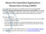 About the Suborbital Applications Researchers Group (SARG)