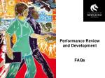 Performance Review and Development FAQs