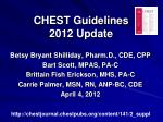 CHEST Guidelines 2012 Update