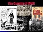 The Coming of WWII