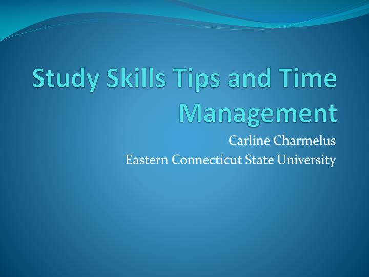 study skills tips and time management n.