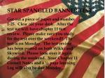 STAR SPANGLED BANNER TEST Get out a piece of paper and number