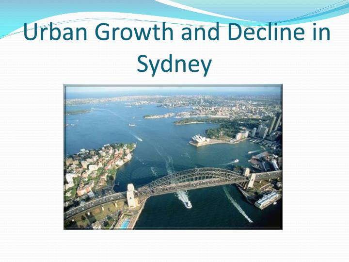 urban growth and decline in sydney n.