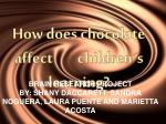 How does  chocolate  affect children´s learning ?